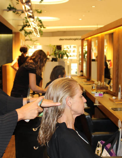client receiving treatment at Tribe Lifestyle salon Sydney CBD